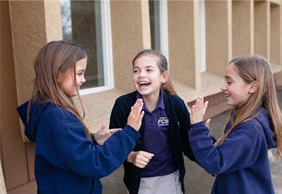 Friends Christian School Girls Playing